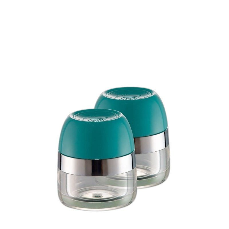 Set of 2 Wesco Spice Storage Canister - Turqouise