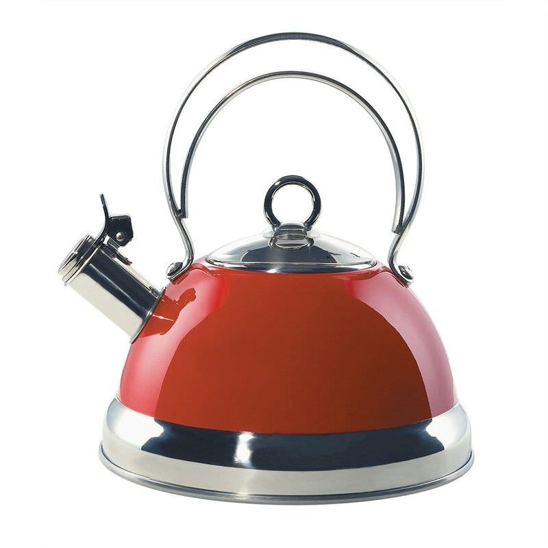 Wesco Terradur Coating Metal 2.75L Whistling Kettle - Red