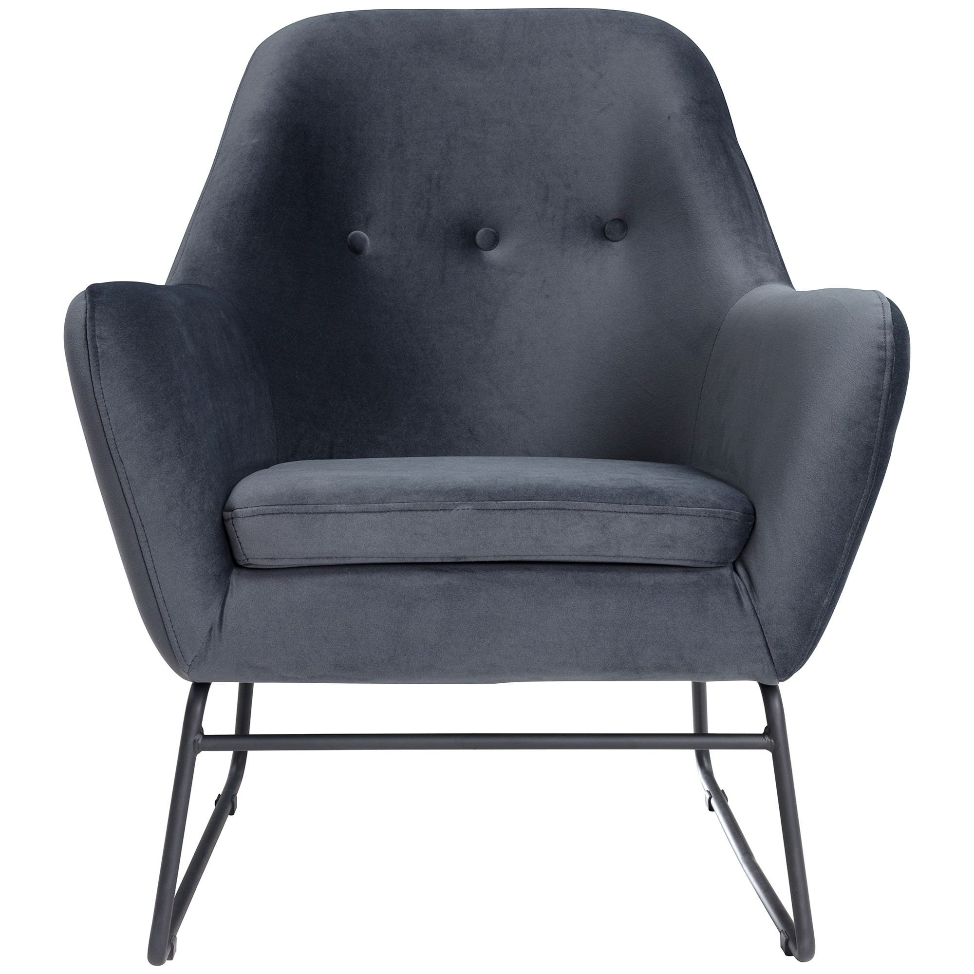 Salem Velvet Fabric Armchair