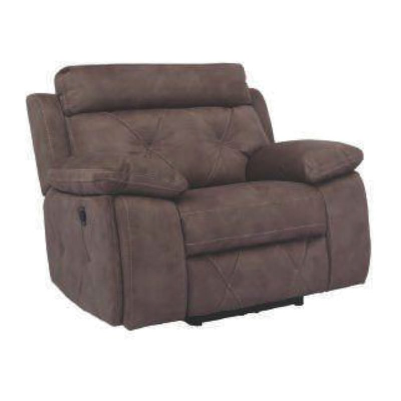 Abrom Fabric Electrical Recliner Armchair, Mink