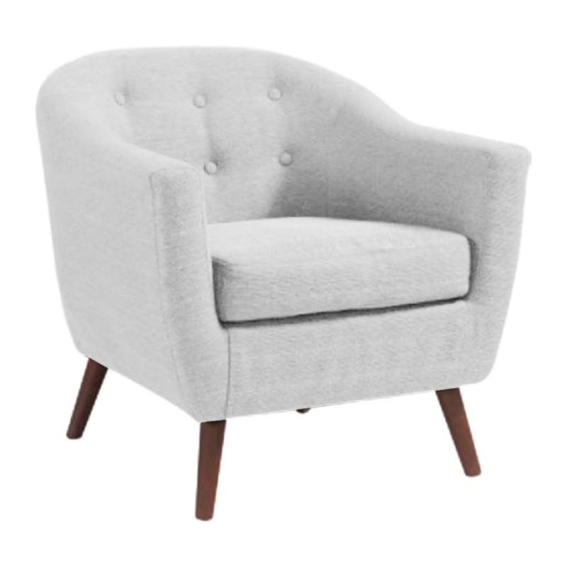 Allshore Fabric Armchair, White