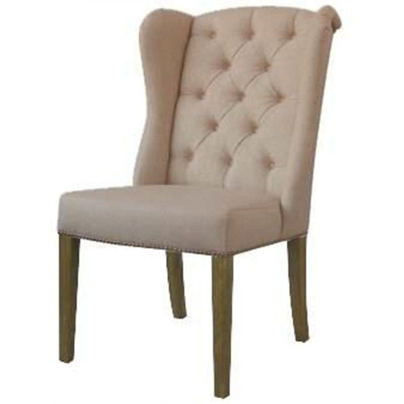 Kartuzy Linen Dining Chair - Beige