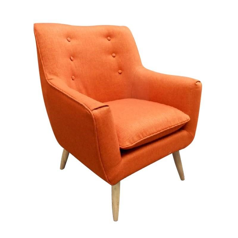 Rialto Fabric Armchair, Orange