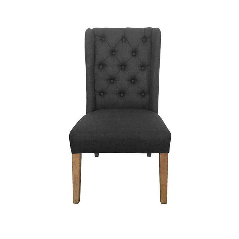 Auburn Tufted Fabric Dining Chair, Charcoal