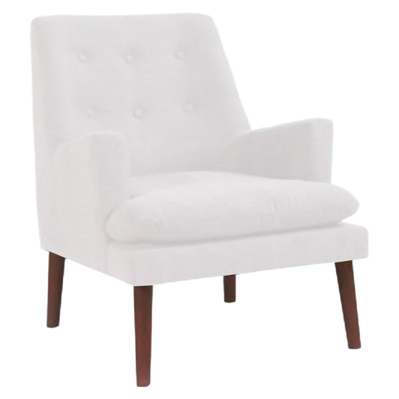 Madeline Fabric Armchair, White