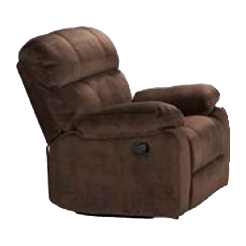 Stade Fabric Recliner Sofa, 1 Seater, Truffle