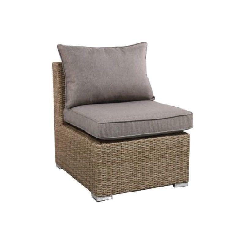 Moluman Outdoor Wicker Modular Armless Lounge Chair