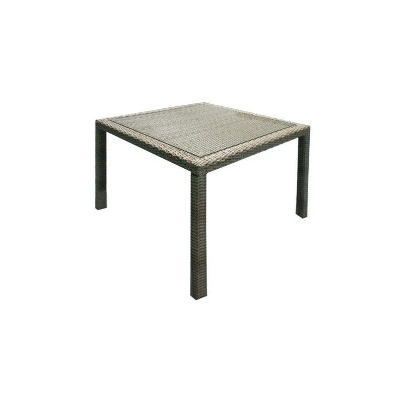 Moluman Outdoor Wicker Square Dining Table, 100cm