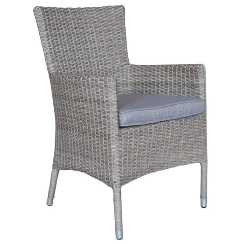 Moluman Outdoor Wicker Carver Dining Chair
