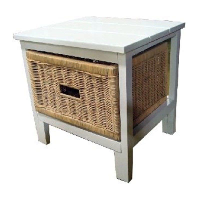Umina 1 Cane Drawer Mango Wood Cabinet
