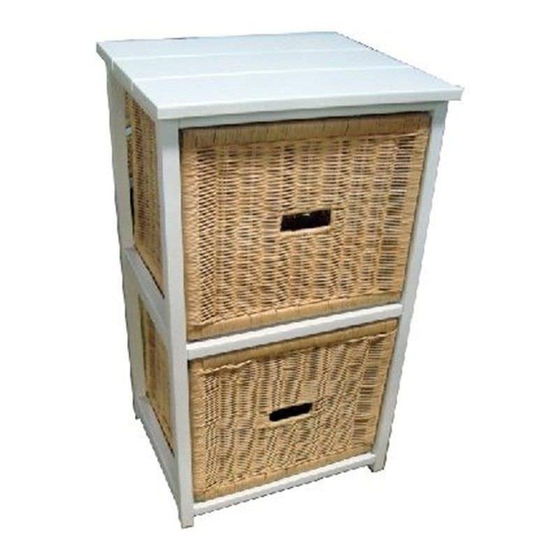 Umina 2 Cane Drawer Mango Wood Cabinet