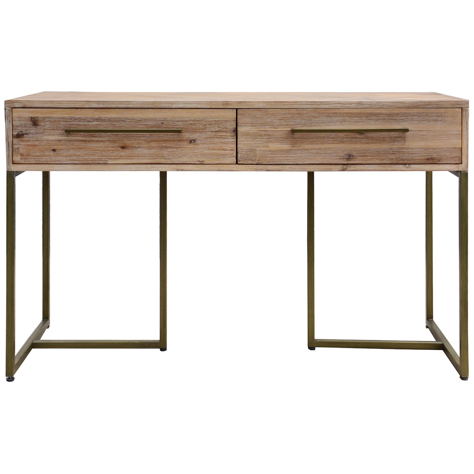 Nona Acacia Timber & Metal Console Table, 120cm