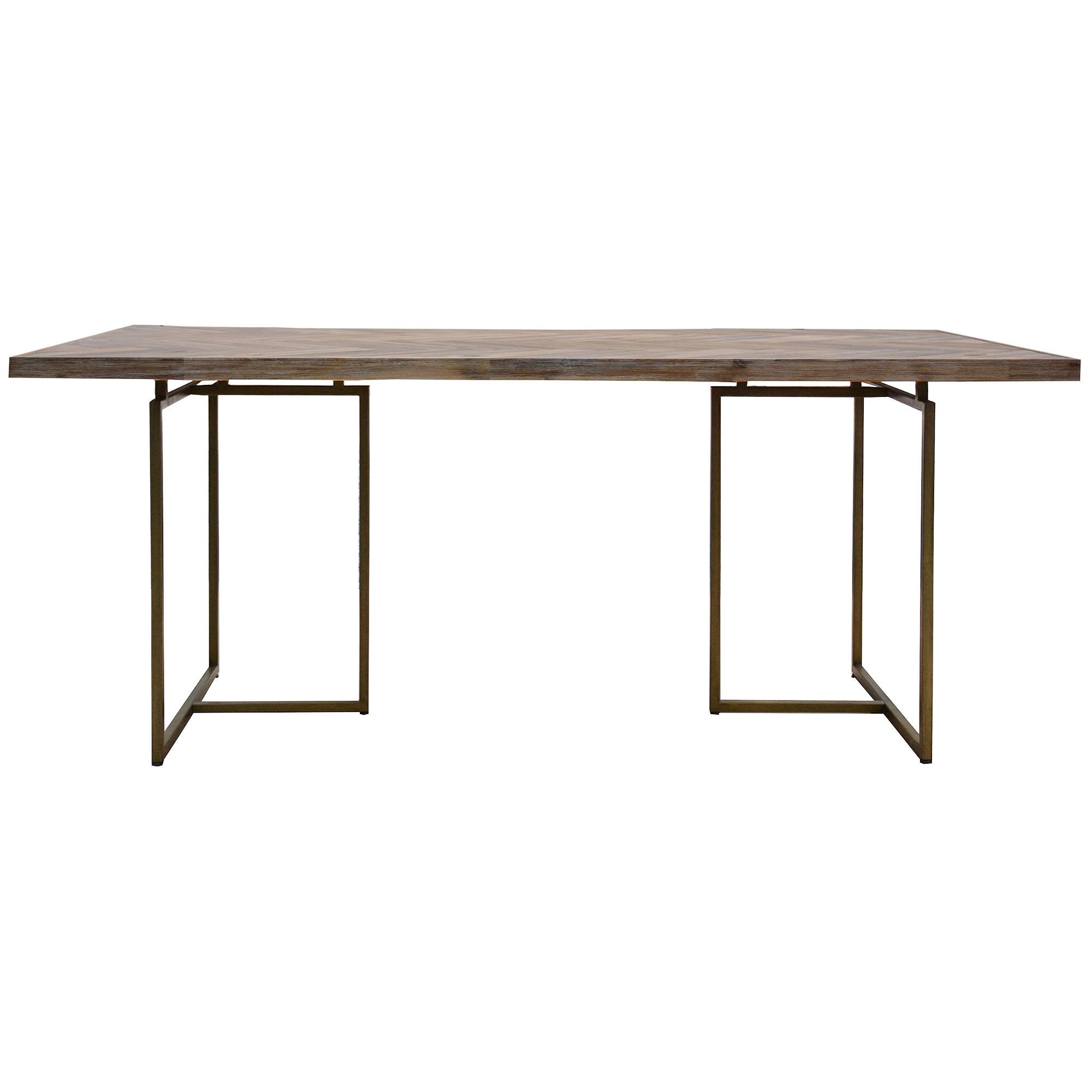 Nona Acacia Timber & Metal Dining Table, 210cm