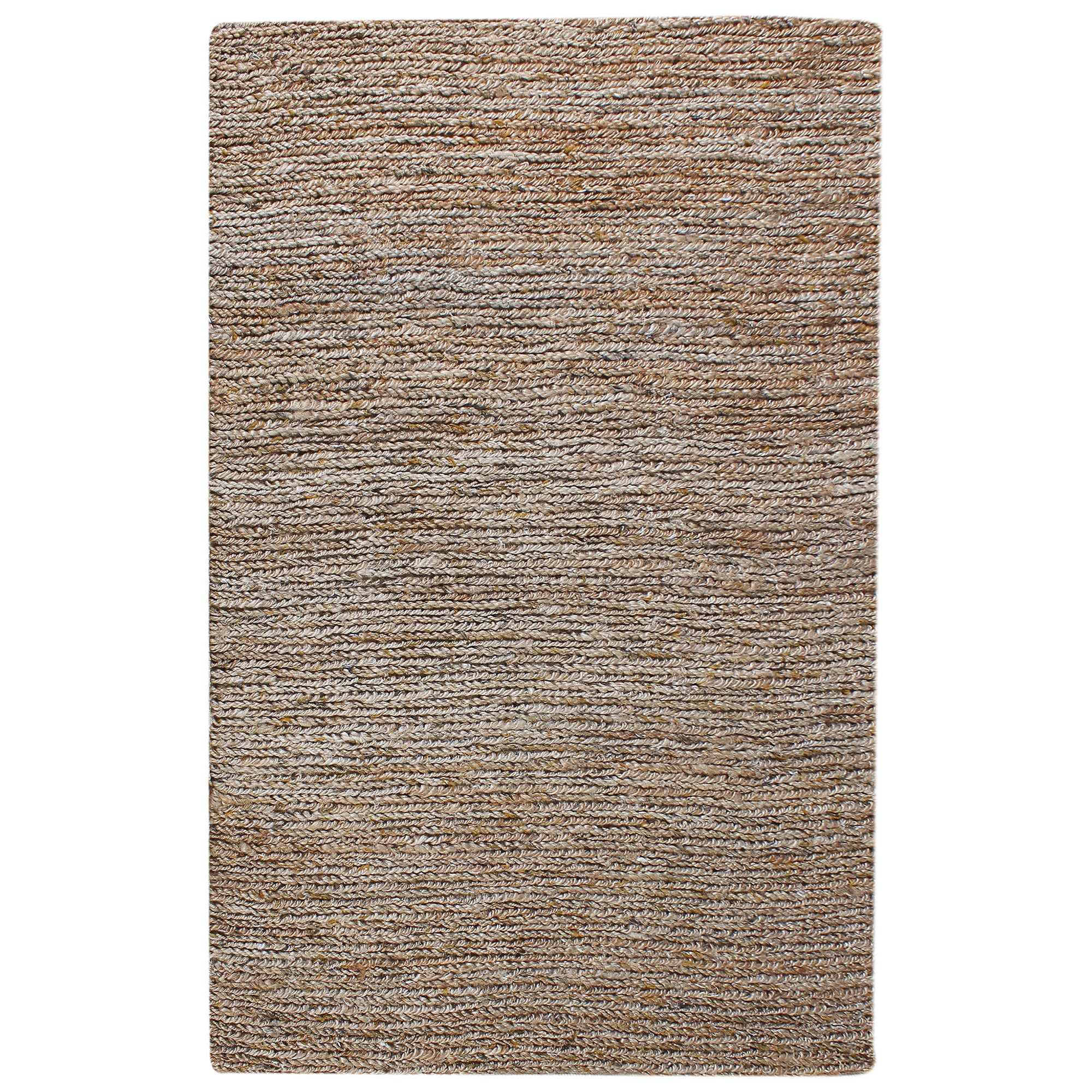 Parry Handwoven Textured Hemp & Wool Rug, 190x290cm