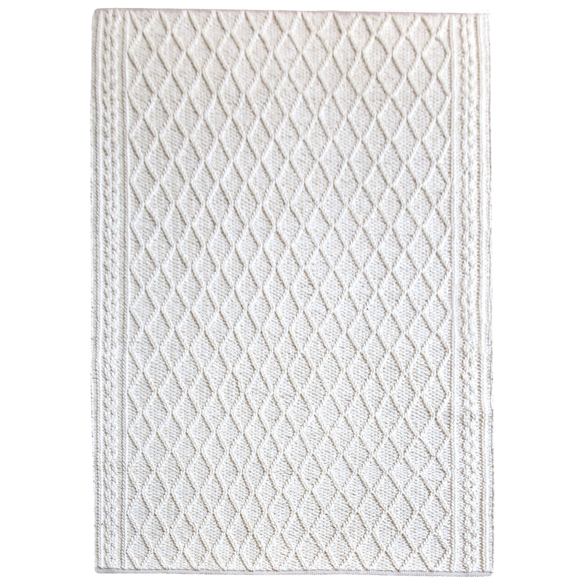 Evrita Hand Knitted Textured Wool Rug, 160x230cm