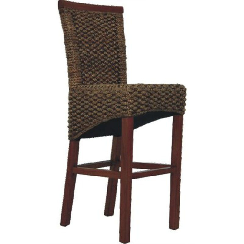 Breeze Water Hyacinth Wicker Bar Chair - Natural / Light Honey