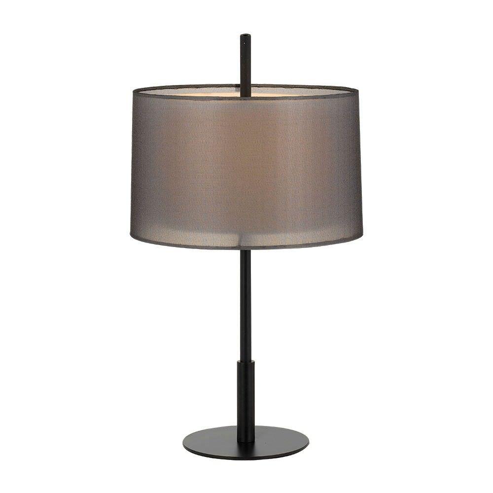 Vale Modern Metal Table Lamp, Black