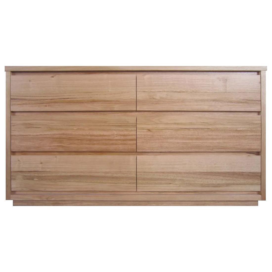 Padstow Messmate Timber 6 Drawer Dresser