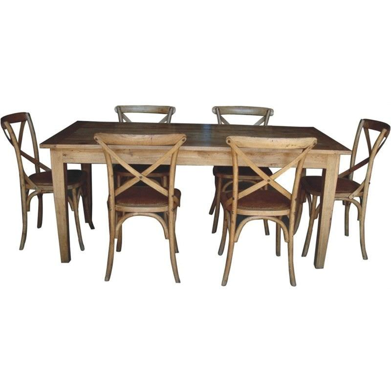 Sherwood Solid Oak Timber 150cm Dining Table (Table Only)