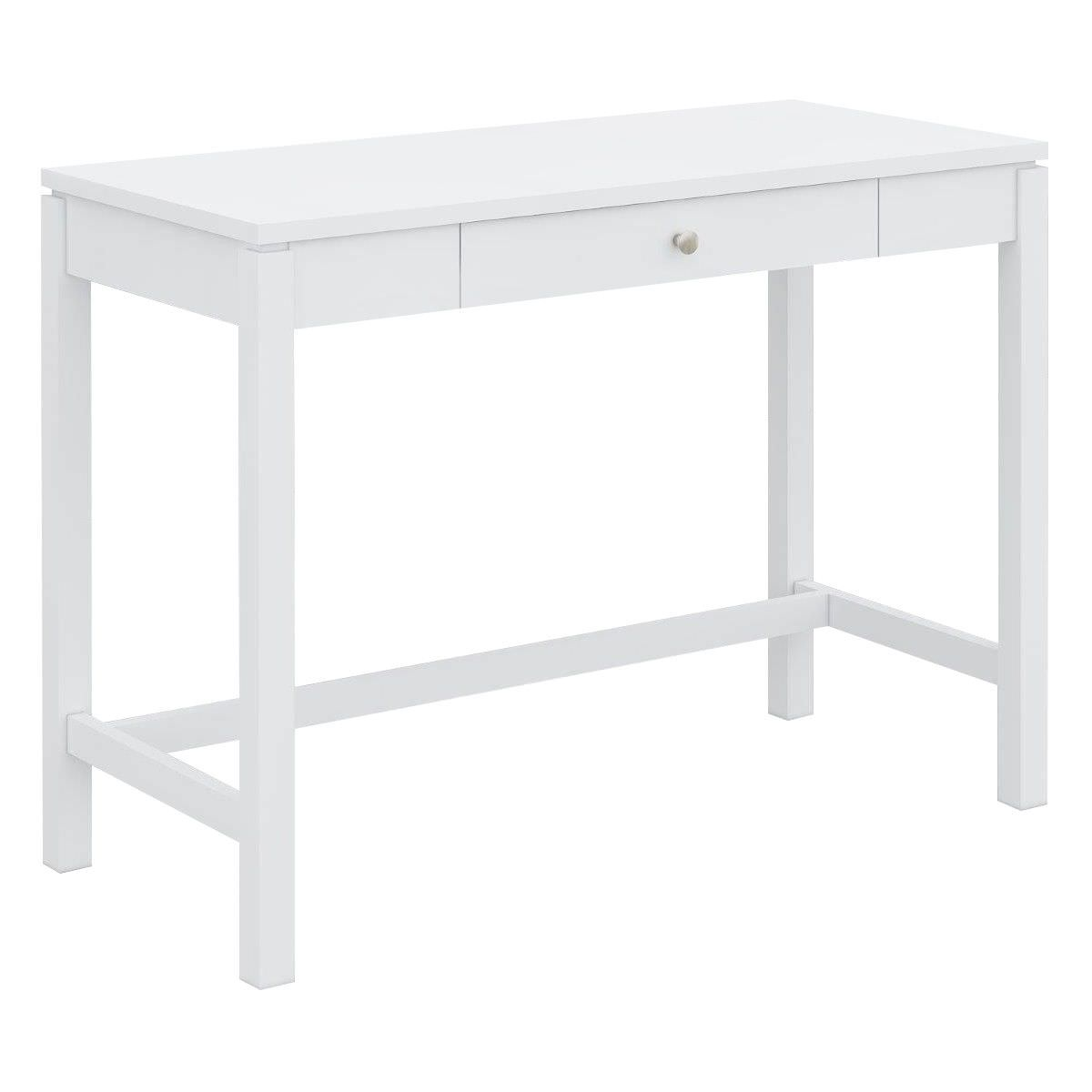 Braque Solid Rubberwood Timber Writing Desk, 103cm, White