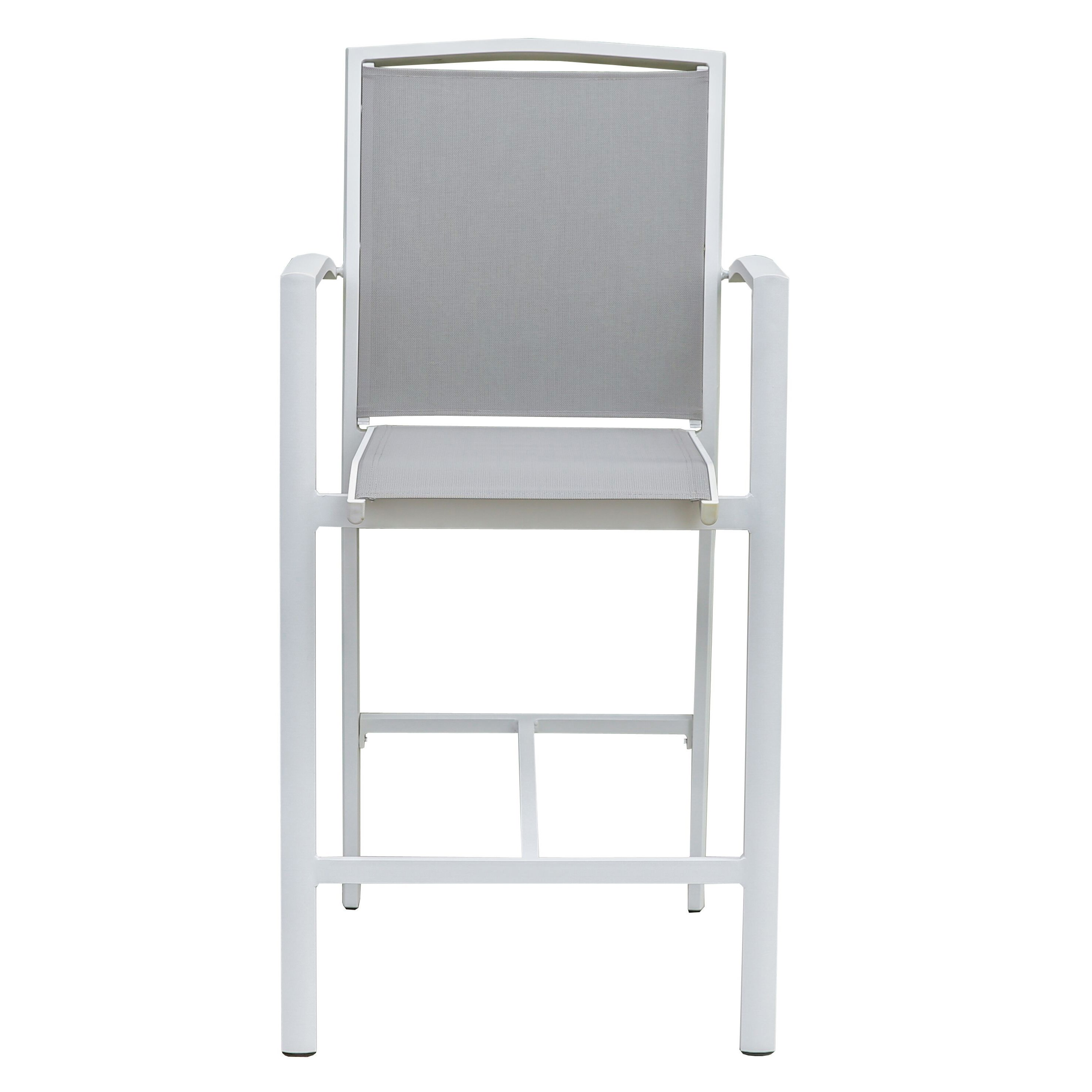 Costa Fixed Bar Chair, White / Grey