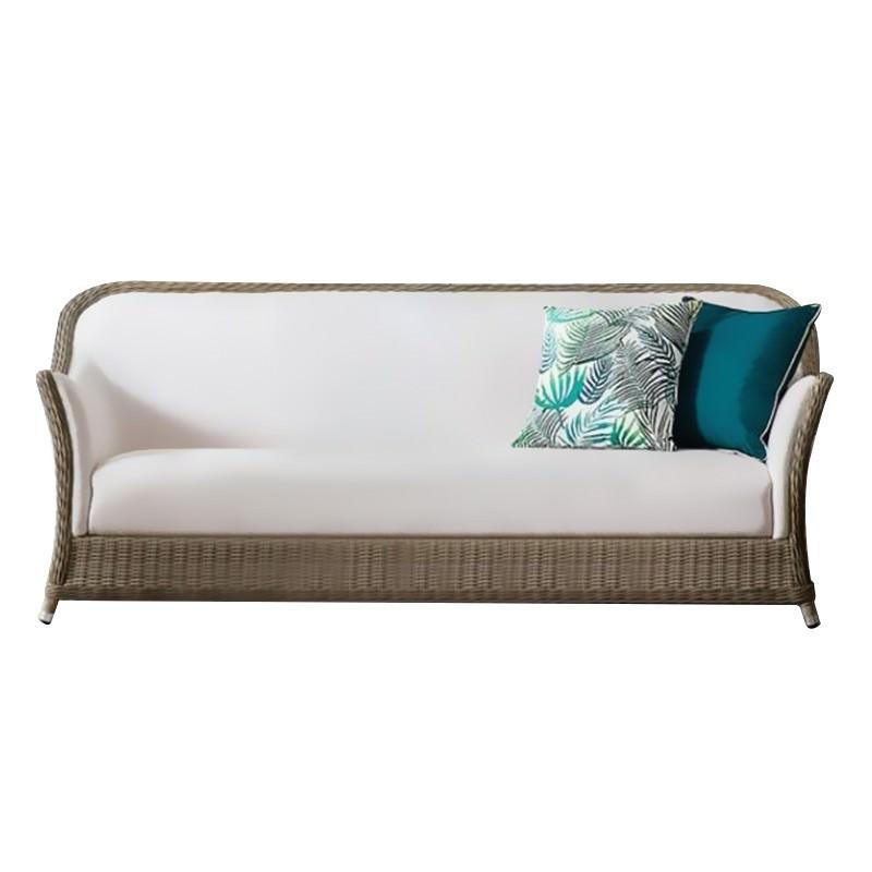 Felicity Wicker Outdoor Sofa, 3 Seater