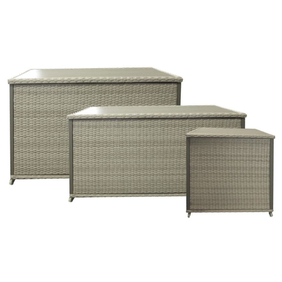 Mackson Wicker Outdoor Cushion Storage Box, Small Only