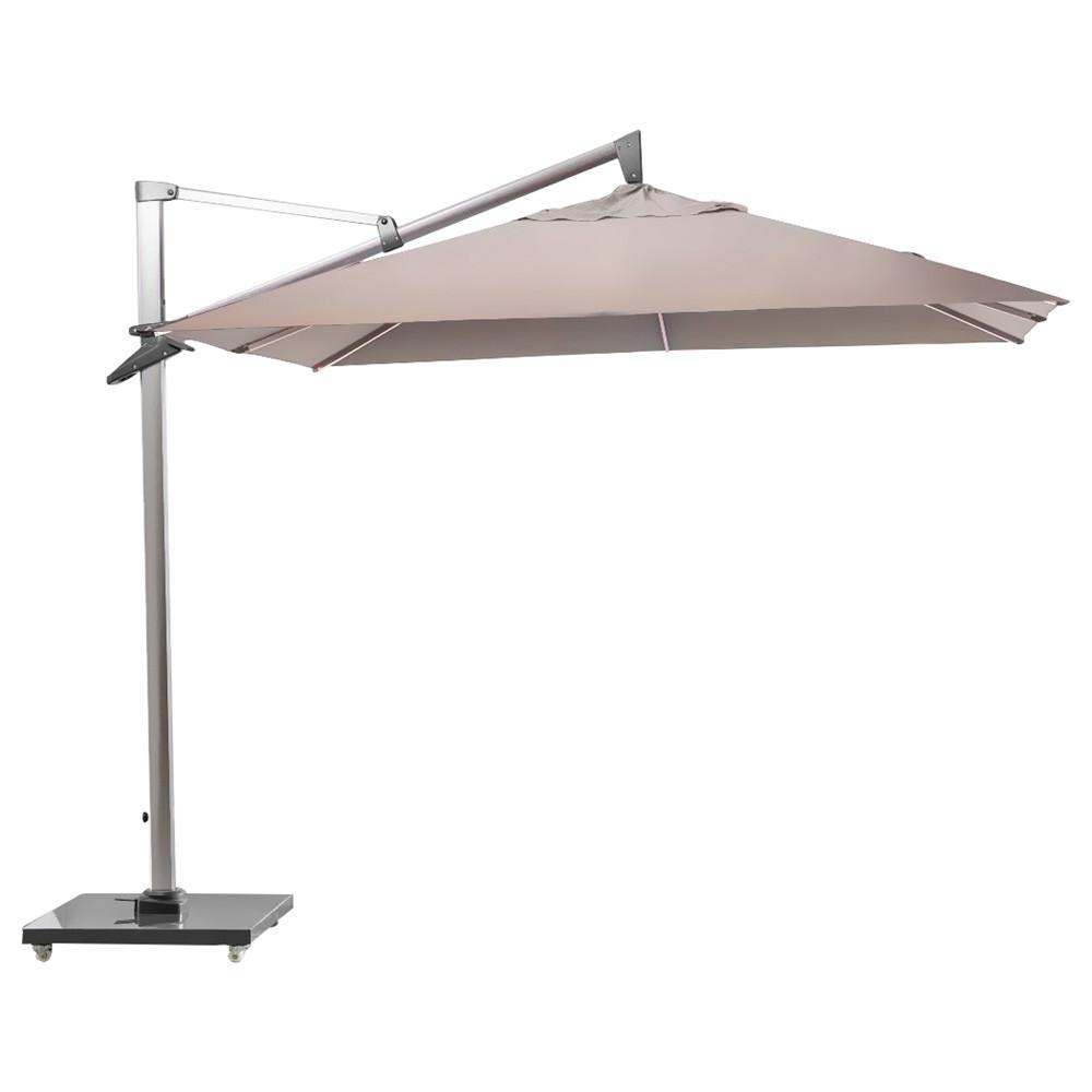 Mooney Outdoor Umbrella with Granite Base, Taupe