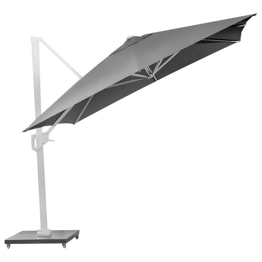 Remi Outdoor Umbrella with Granite Base, Grey