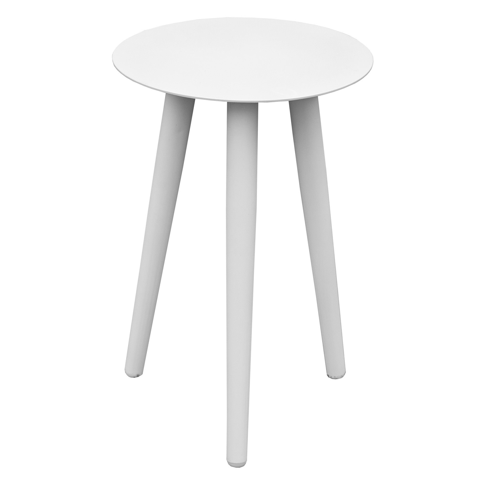 Wesley Aluminium Indoor / Outdoor Side Table, 32cm, White