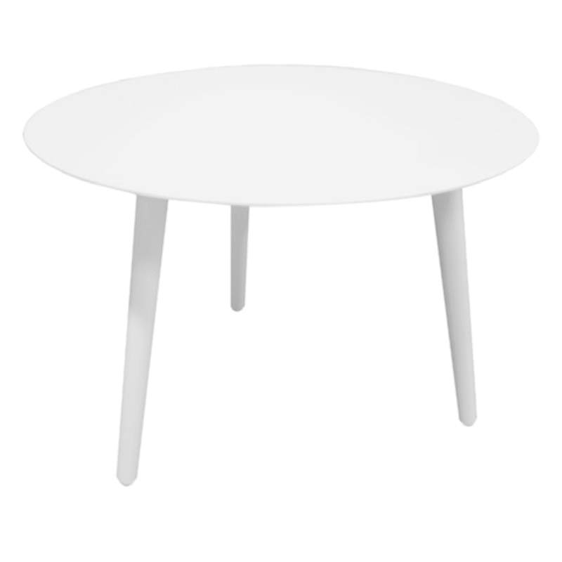 Wesley Aluminium Indoor / Outdoor Side Table, 50cm, White