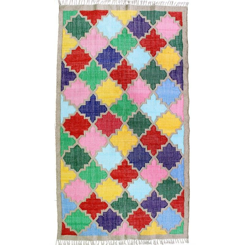 Chirayu 150x240cm Hand Woven Cotton & Jute Rug