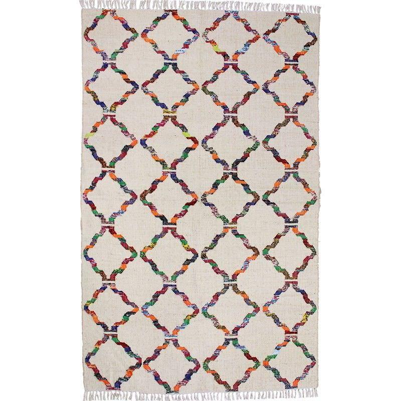 Udala 150x240cm Hand Woven Cotton and Jute Rug