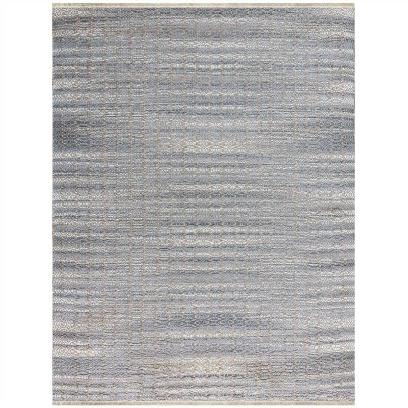 Serenity 160x230cm Hand Made Jute and Rayon Rug - Sky Blue
