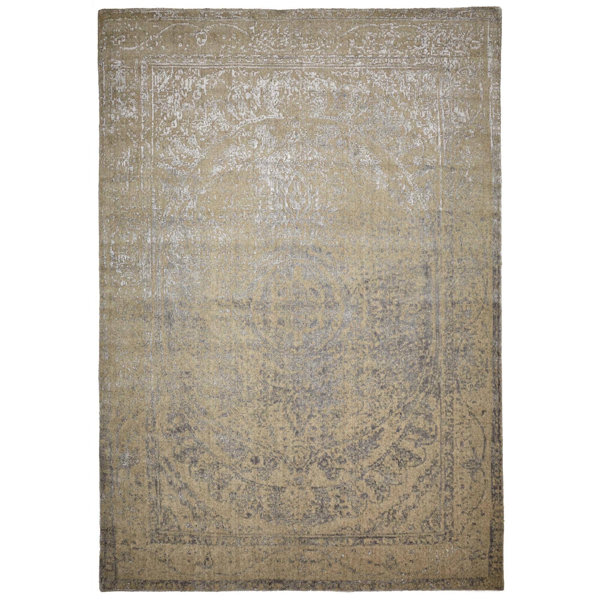 Vienna No.046 Handmade Wool Transitional Rug, 340x270cm, Beige