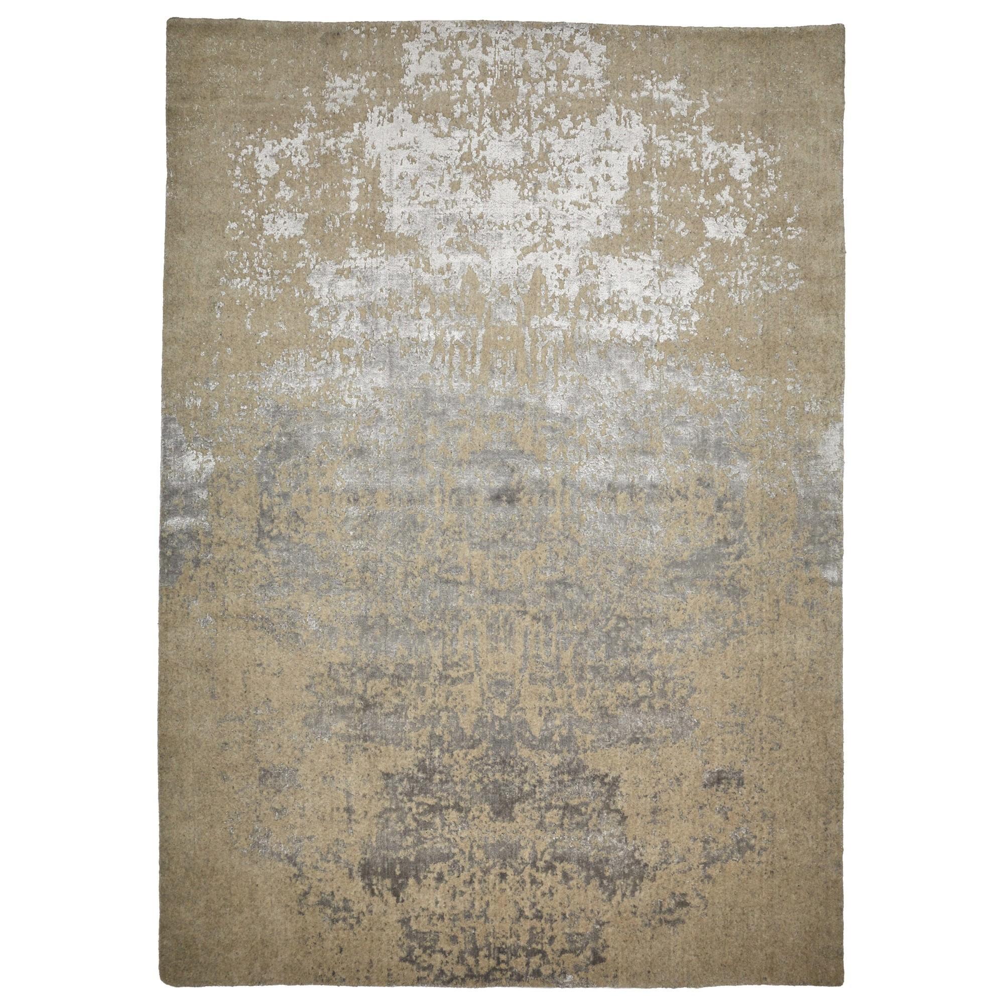 Vienna No.047 Handmade Wool Transitional Rug, 160x110cm, Beige