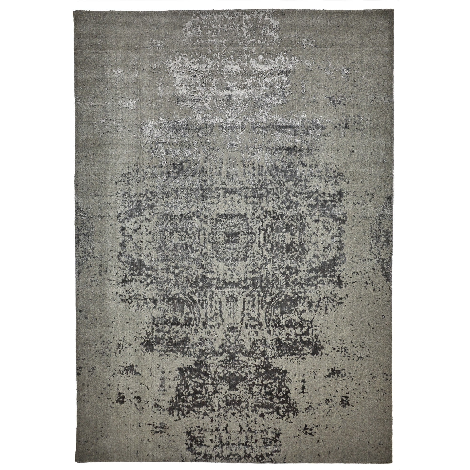 Vienna No.047 Handmade Wool Transitional Rug, 160x110cm, Grey