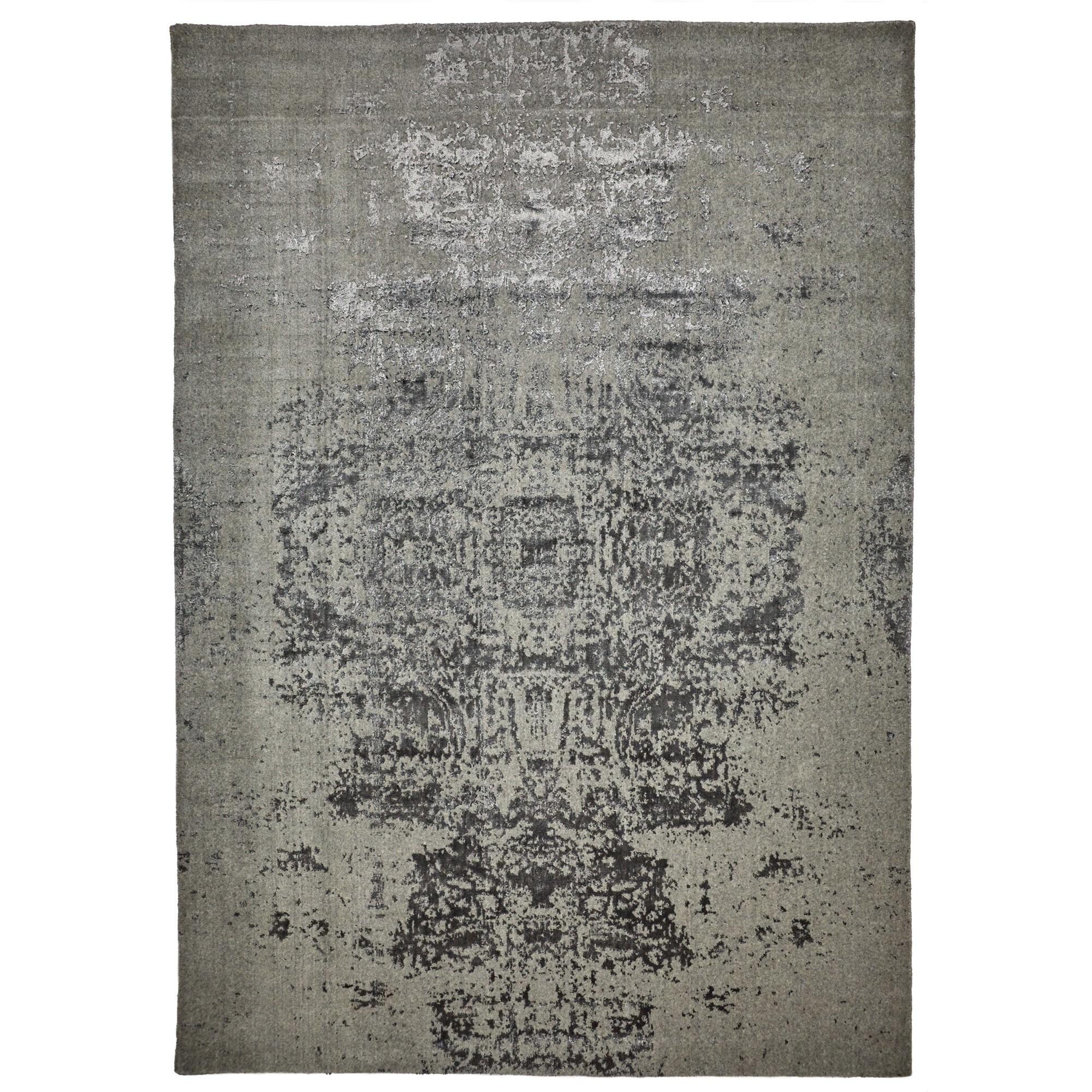 Vienna No.047 Handmade Wool Transitional Rug, 225x155cm, Grey
