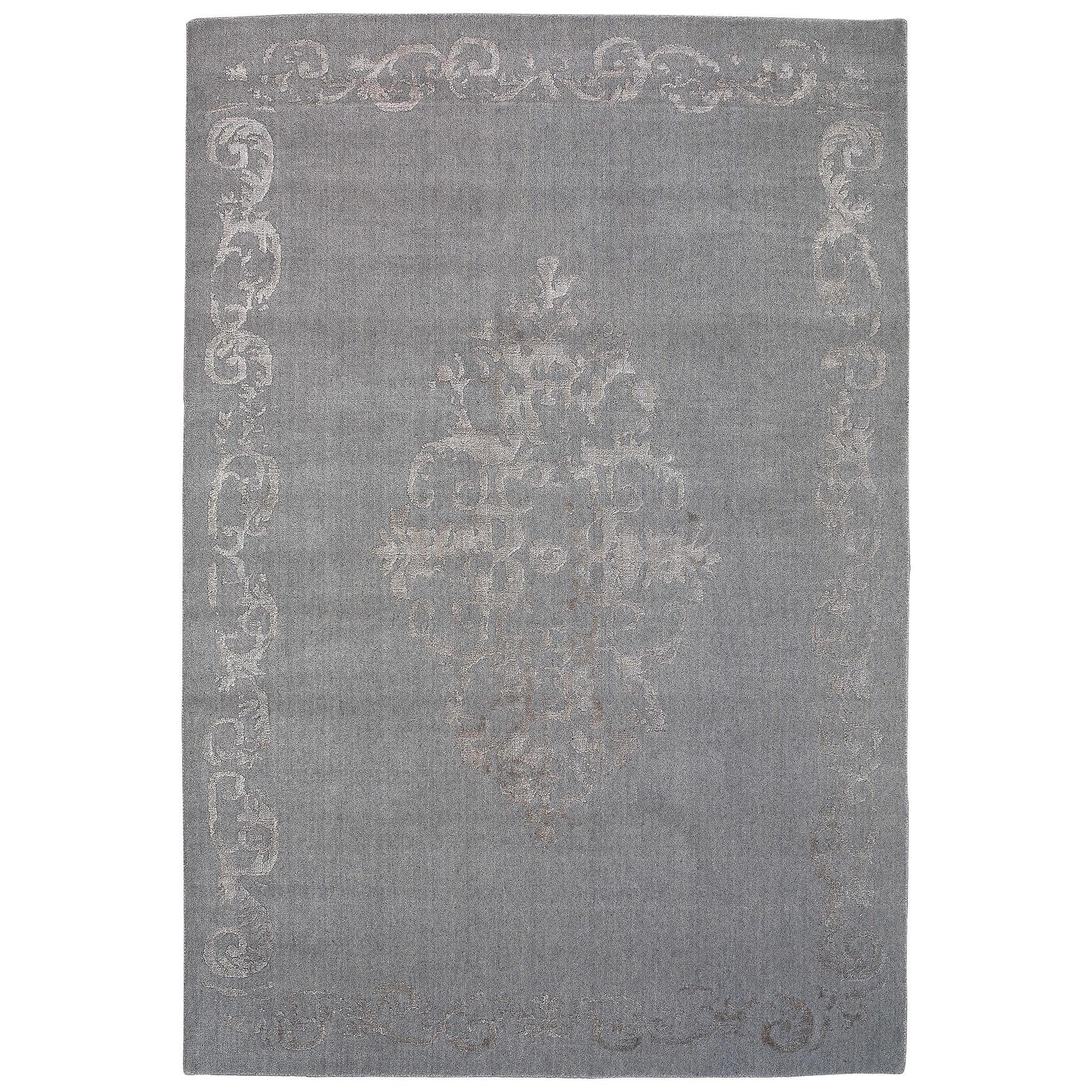 Vienna No.048 Handmade Wool Transitional Rug, 380x280cm, Grey