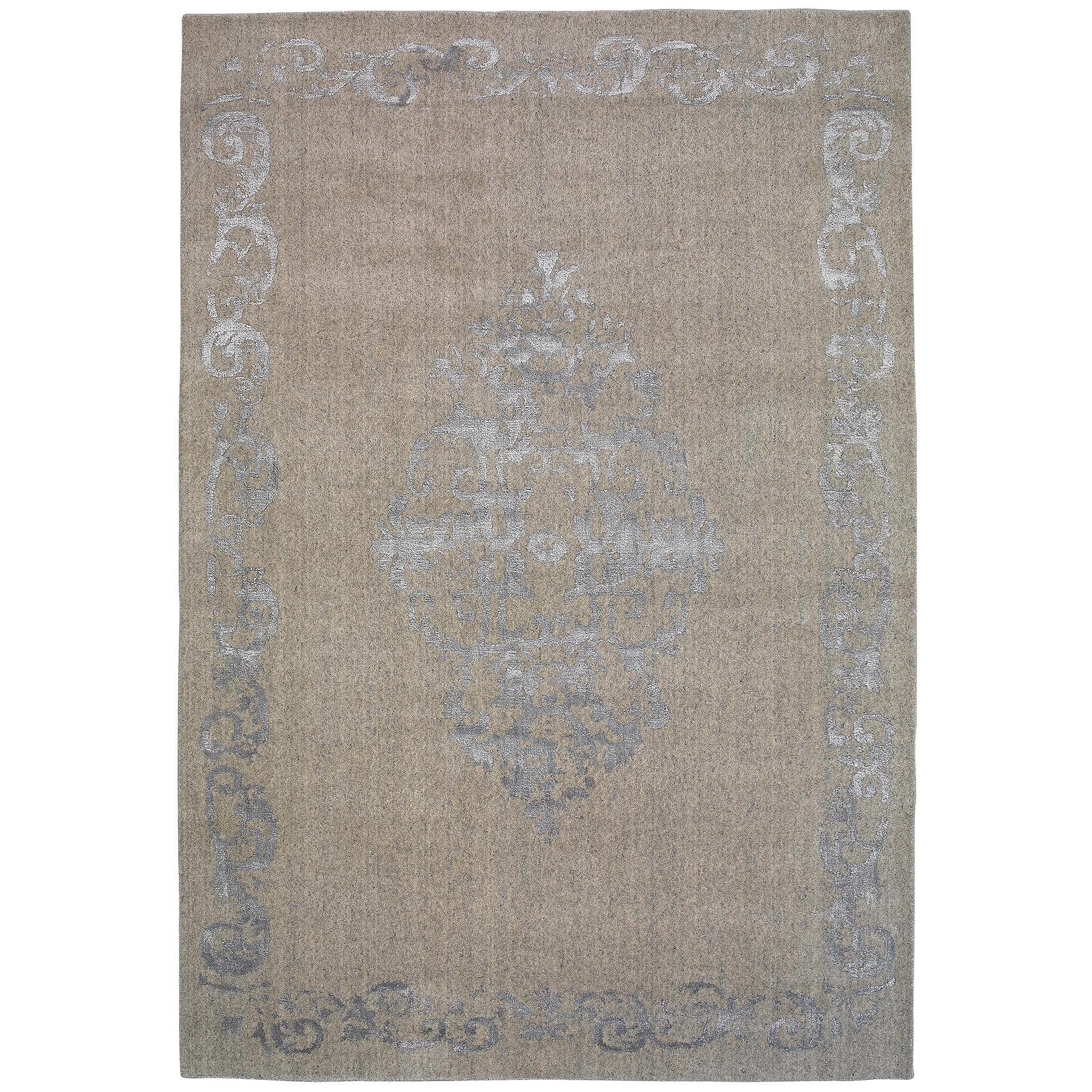 Vienna No.048 Handmade Wool Transitional Rug, 330x240cm, Silver