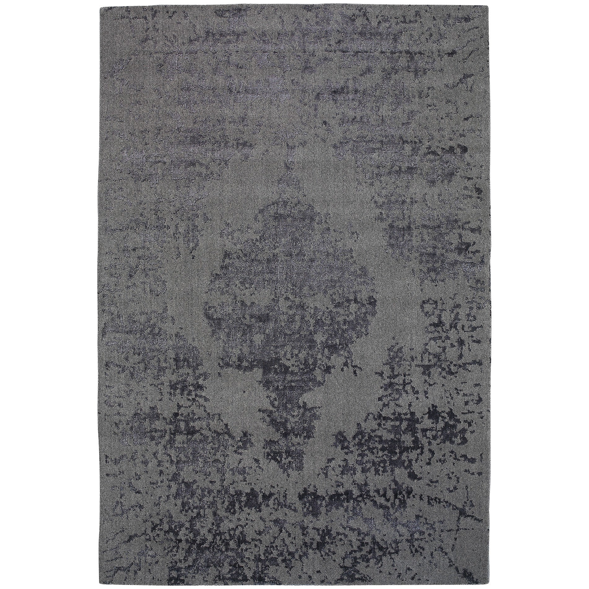 Vienna No.049 Handmade Wool Transitional Rug, 380x280cm, Smoke
