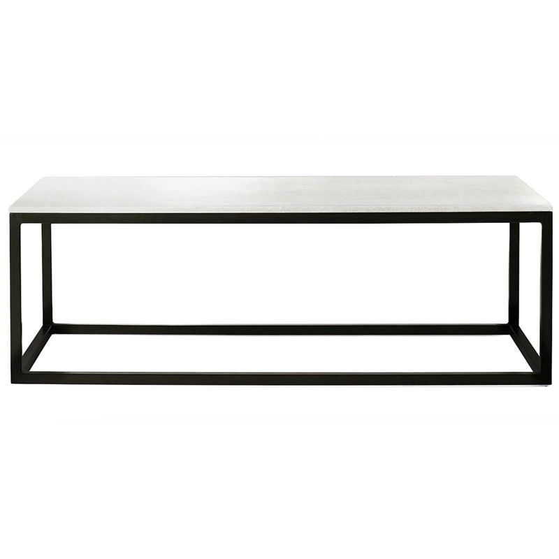 Tacoma Iron 120cm Coffee Table with Marble Top