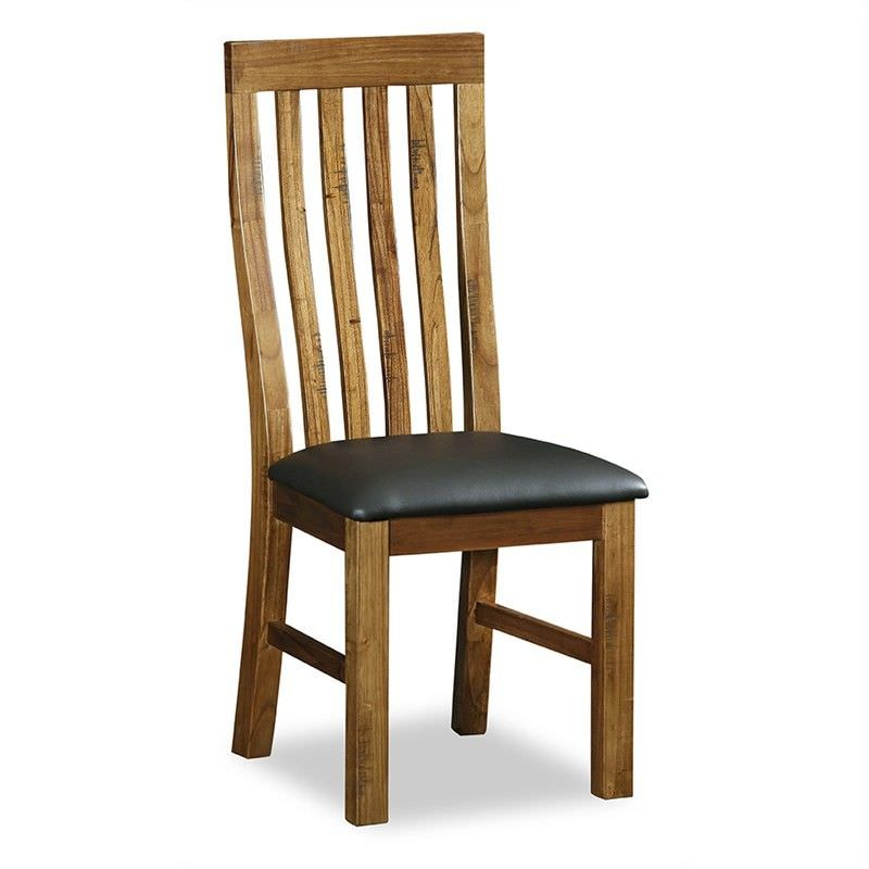 Wells Solid Mountain Ash Timber Dining Chair with PU Seat