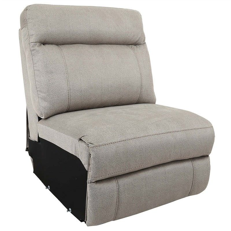 Ballarat Fabric Armless Recliner Sofa, Beige