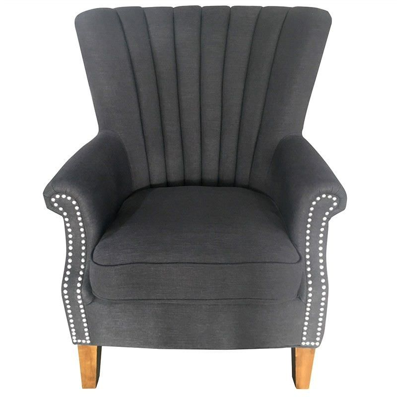 Elara Fabric Uphostered Armchair - Black