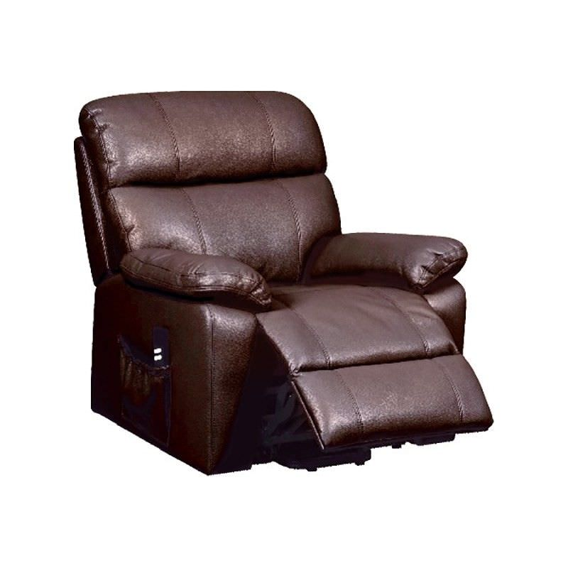 Stade Fabric Upholstered Lift Armchair, Brown