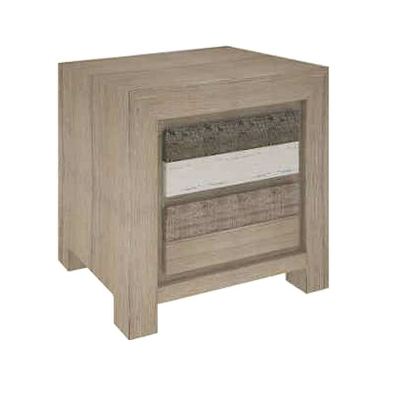 Lafite Solid Acacia Timber 2 Drawer Bedside Table