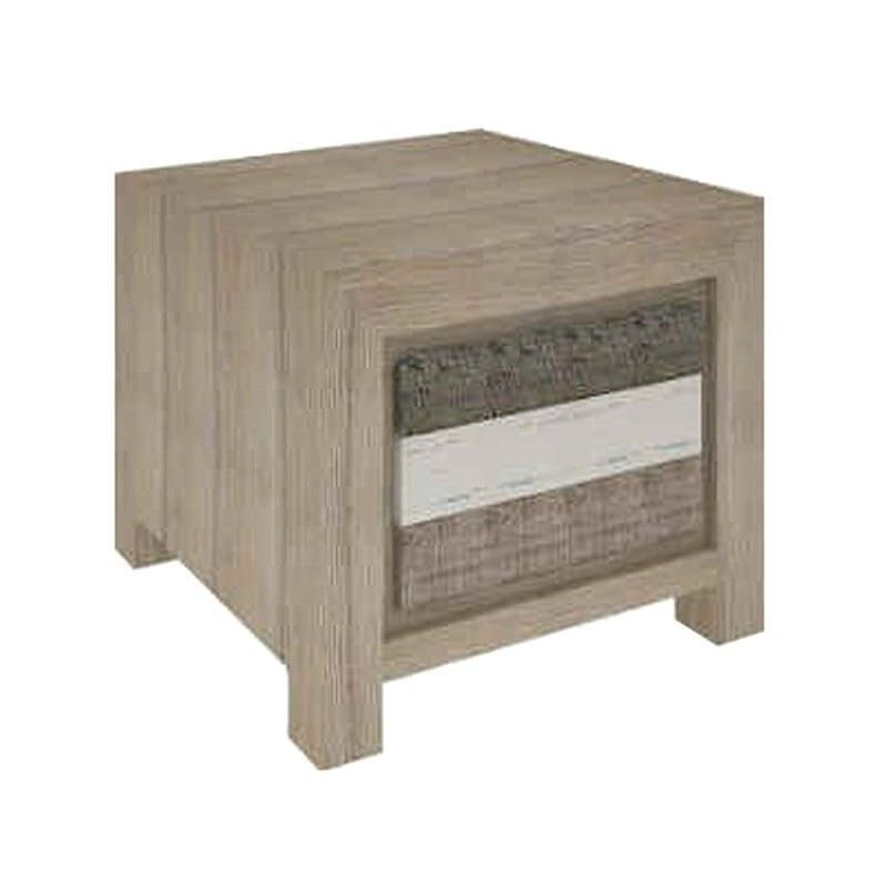 Lafite Solid Acacia Timber Single Drawer Lamp Table