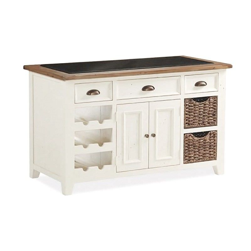 Halsey Solid Pine Timber Kitchen Island