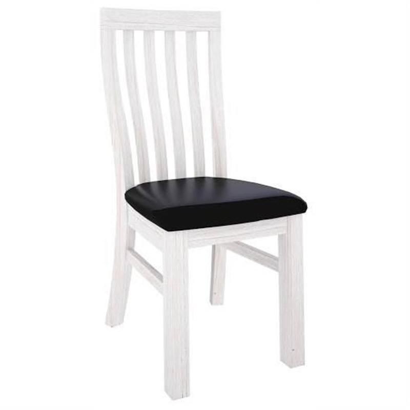Viborg Mountain Ash Timber Dining Chair, Black PU Seat